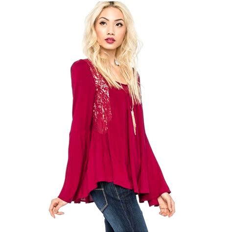 red blouses for women lace women blouses tops red blouse 2015 women elegant