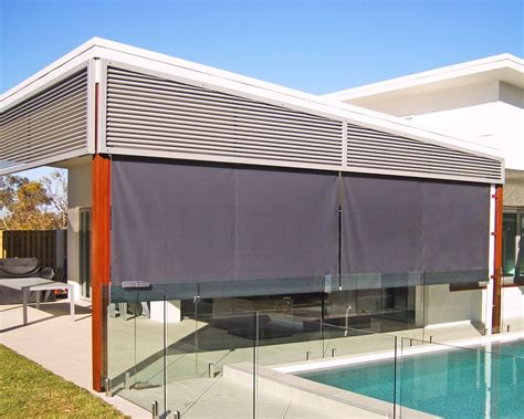 outdoor awning blind outdoor blinds straight drop awnings brisbane sydney