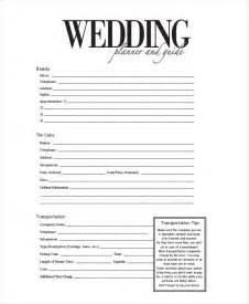 wedding information sheet template event planner forms 8 free documents in pdf