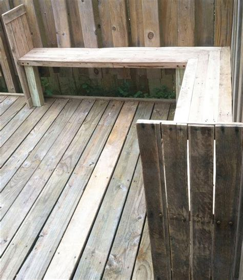 pallet outdoor bench salvaged pallet outdoor bench 101 pallets