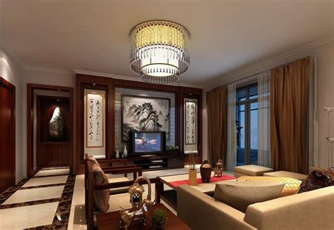 chinese traditional living room interior design 3d classical chinese living room villa interior design 3d
