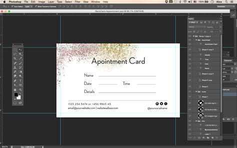 photoshop name card template premade business card template name card template photography name card model name card