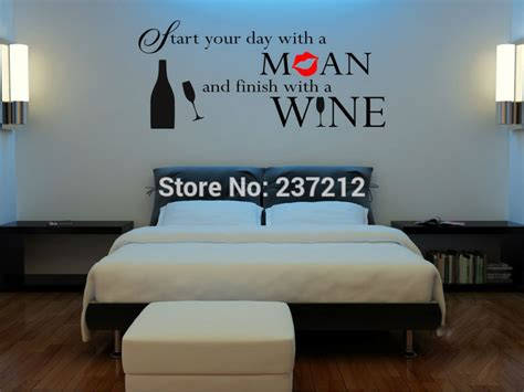 bedroom decals for adults aliexpress buy quotation on wine