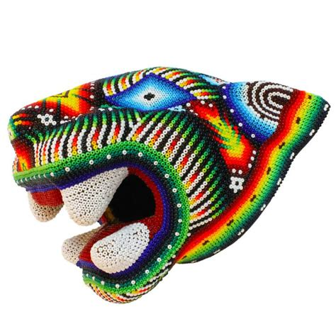 huichol bead symbols huichol bead collection huichol jaguar jh042