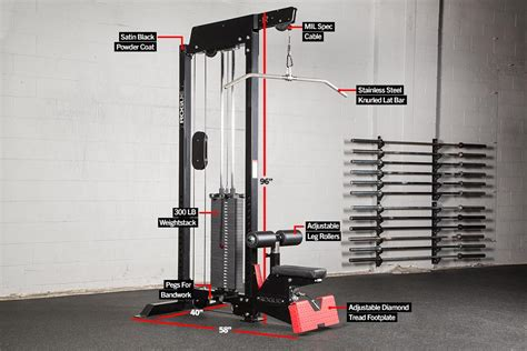 lat pull low row stand alone rogue fitness