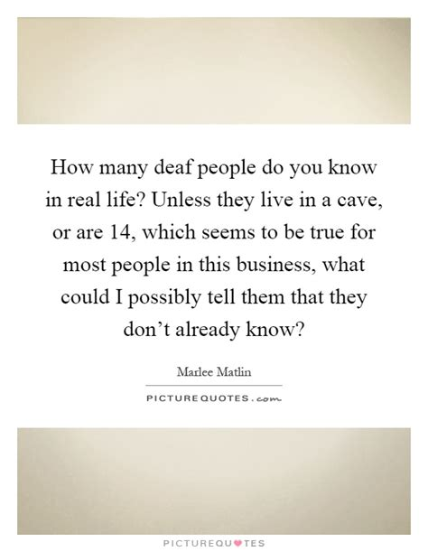 how many people can live in a two bedroom house how many deaf people do you know in real life unless they