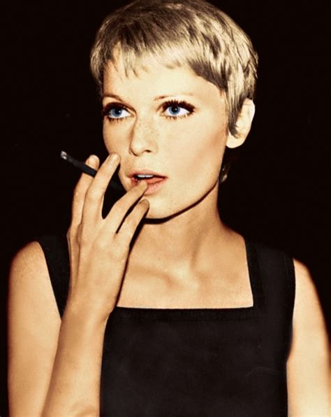mia farrow haircut mia farro famous faces pinterest