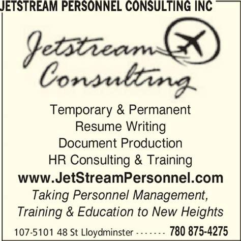 Resume Help Lloydminster jetstream personnel consulting inc opening hours 107 5101 48 st lloydminster ab
