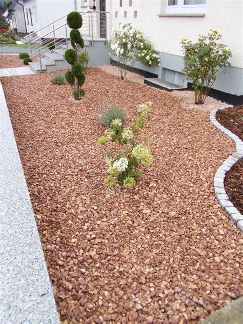 beautiful vorgarten mit kies und rindenmulch ideas