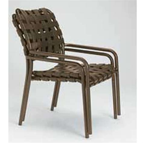 Patio Chair Strapping Kahana Cross Patio Set By Tropitone Free Shipping Family Leisure