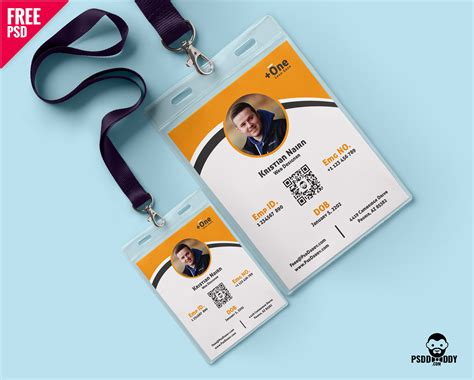 card 5 id template photo identity card template psd psddaddy