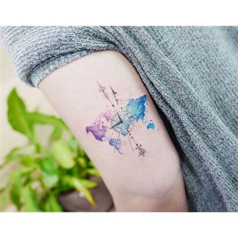 watercolor travel tattoos watercolor tattoos korean style watercolor tattoos