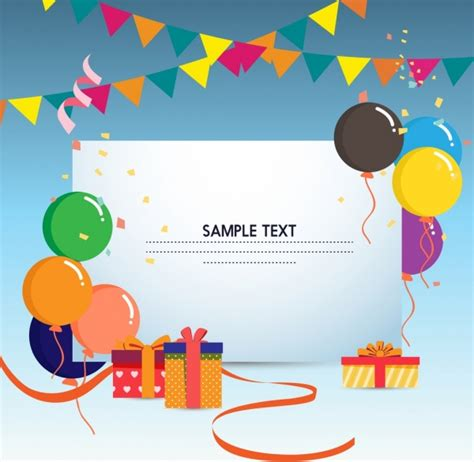 balloon card template gift card template colorful balloons ribbon box ornament