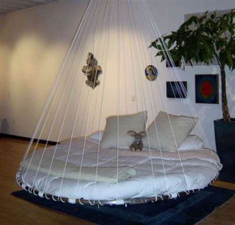 Bed Suspended From Ceiling by Swing Yourself To Sleep Hanging Beds Freshome