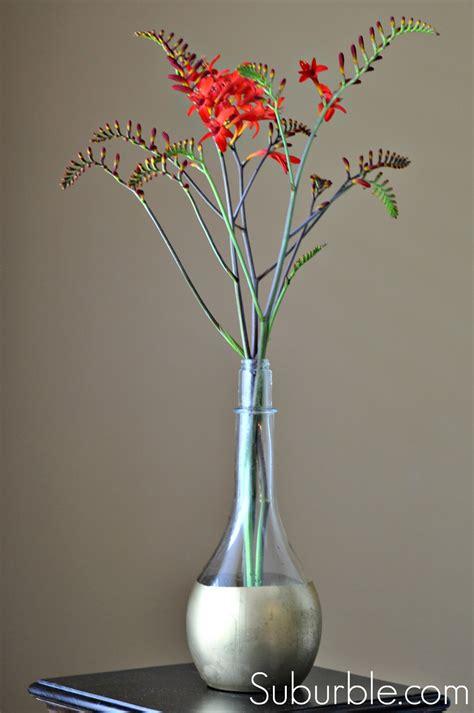 Thin Flower Vase Diy Gold Dipped Vase Live Creatively Inspired