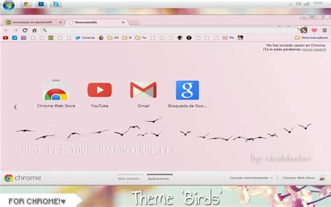 theme google chrome normal theme birds for google chrome by nicolelastar on deviantart