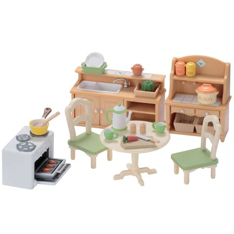sylvanian country kitchen sylvanian families country kitchen set