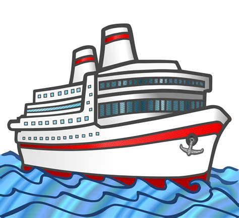 clipart boat on water ship in water clipart clipground