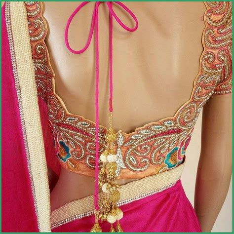 Blouse Fashion Bordirr sarees blouse back neck designs with borders for 2016