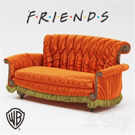 couch friends 3d models sofa warner brothers friends sofa