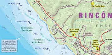 rincon map surfing maps surfing beaches surfing surf spots surf