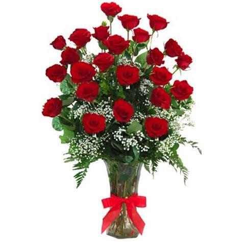 Two Dozen Roses by Two Dozen Stem Roses In Vase Flower Patch