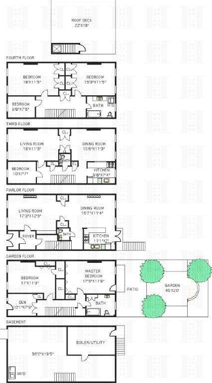 brooklyn brownstone floor plans park slope brownstone asks 3 95 million and more