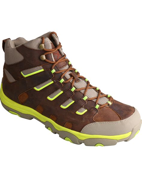 twisted x lace up boots twisted x s hiker brown and neon lace up boots boot barn