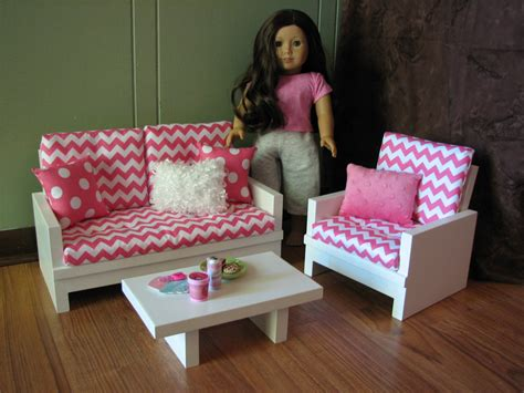 how to make a american girl doll couch american girl sized living room 18 doll furniture