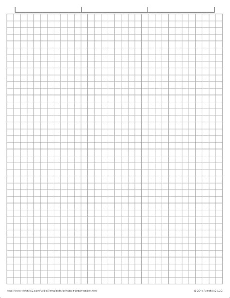 graph paper template for word 1 inch graph paper printable