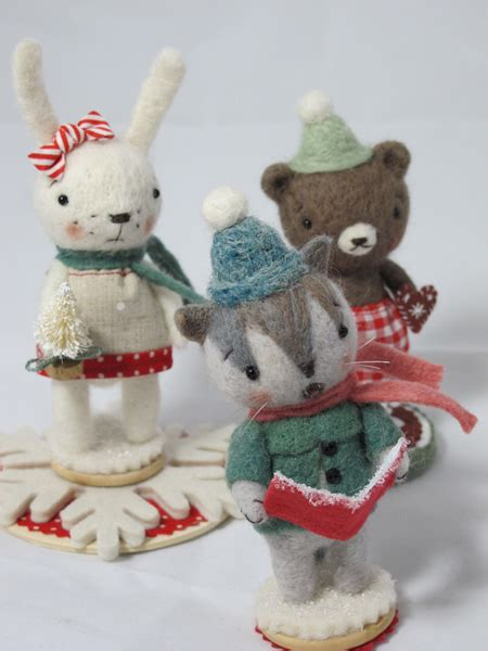 fa la la christmas figurines jenn docherty needle felted bears and friends part 2