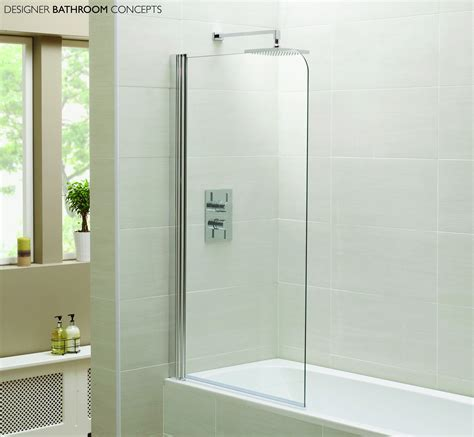 shower screens for baths designer single glass bath shower screens dbc idensbs