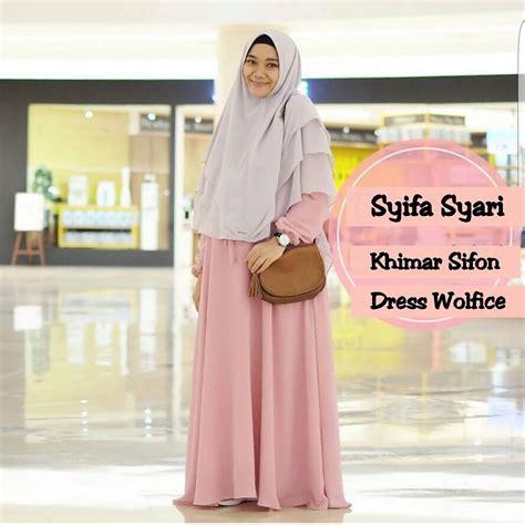 Gamis Syifa Dress by Busana Murah Syifa Syari Grosir Baju Muslim