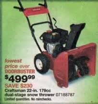 black friday deals on snowblowers craftsman 22 179cc dual stage snow thrower blackfriday fm