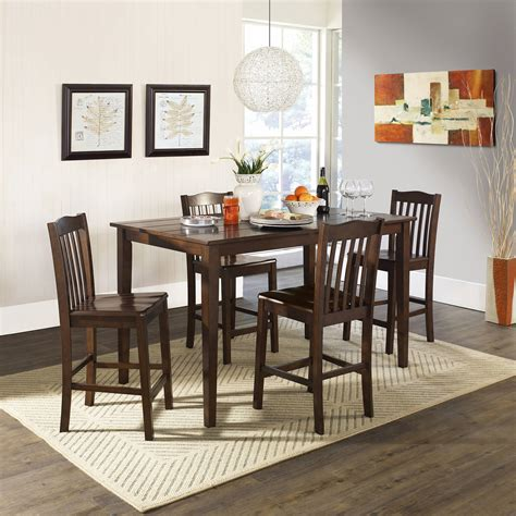 breakfast dining set coaster 3 breakfast dining set cappuccino walmart