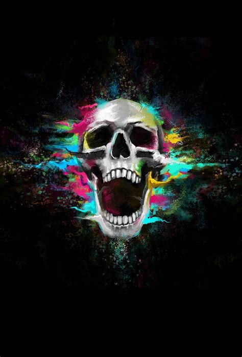 skull color art skull wallpaper unique iphone wallpaper