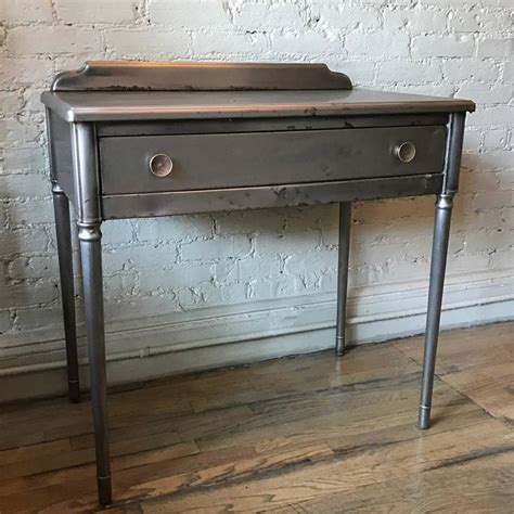 brushed brass desk l brushed steel sheraton series vanity writing desk by