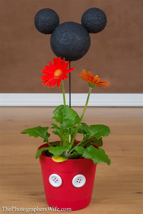 flower pot crafts for mickey flower pot diy craft disney flower pots
