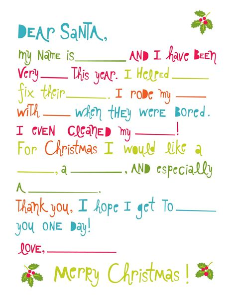 letter to santa free printable lemon squeezy day six santa letter