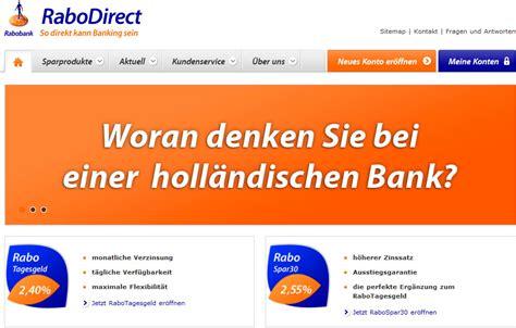 rabodirect bank neu bei bankingcheck rabodirect startet durch