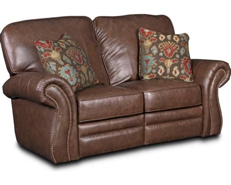 lane leather loveseat recliner lane leather reclining sofa with nailhead trim refil sofa