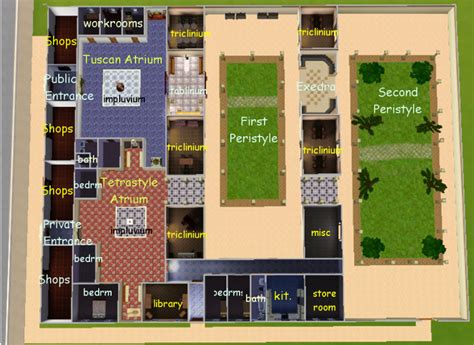 layout of the house of the faun layout of pompeii house house best design