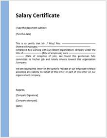 Salary Certificate Letter Salary Certificate Template Format Amp Template