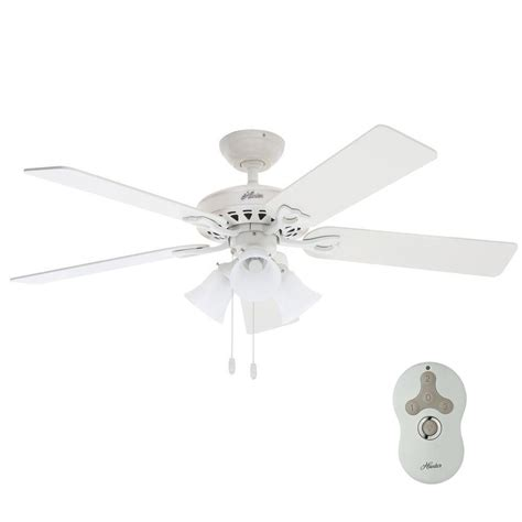 white ceiling fan no light sontera 52 in indoor white ceiling fan with