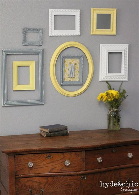 yellow and grey home decor picture frames by baby nursery decor wall letter monogram frame yellow