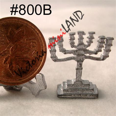 Do It Yourself Miniature menorah unfinished diy metal miniature for dollhouse do it yourself