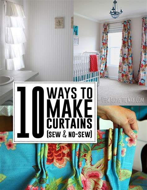 how to sew simple curtains 10 ways to make curtains sew no sew