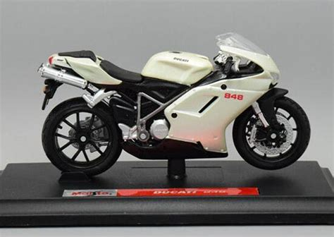 Diecast Ducati 3 white 1 18 scale maisto diecast ducati 848 motorcycle model nm01b032 ezmotortoys