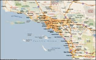 map of southern california map southern california overview