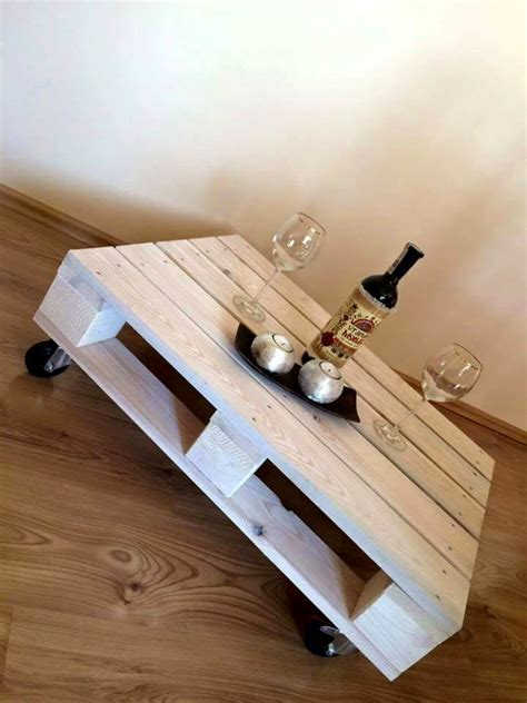 pallet table with wheels one pallet coffee table with wheels